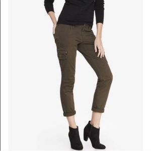 Express Olive Jeans Ankle Skinny Stella Low Rise